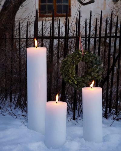 Kerzen im Winter Einladung