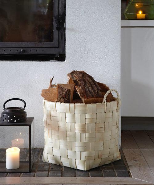 Aufbewahrungskorb Holz Gemütlichkeit Hygge