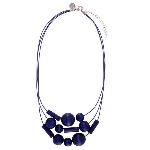 SAAME Halskette aus Holz Blau/lila von Aarikka