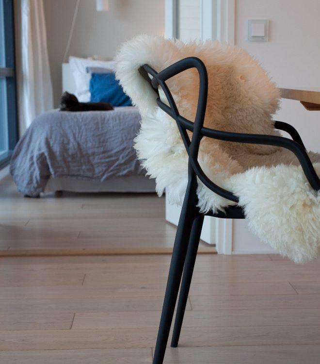 Lammfell in Wohnzimmer