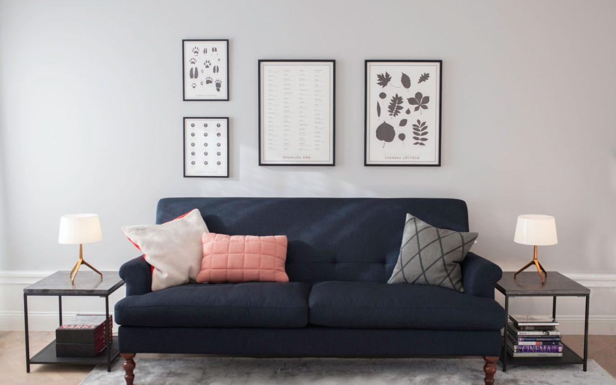 Miss den Platz für das Sofa aus. Nordic Butik