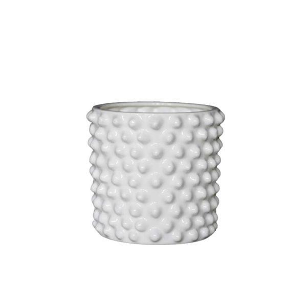 Blumentopf keramik Cloudy small weiß