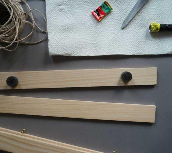 DIY Posterhänger aus Holzbenötigte Material Holzleisten klebe