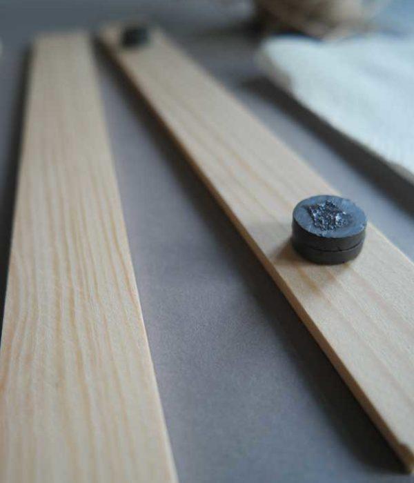 DIY Posterhänger aus Holzbenötigte Material Magneten