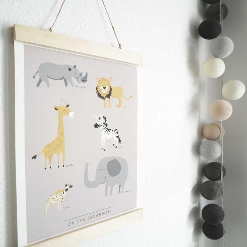 DIY Posterhänger aus Holz