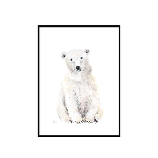 Kinderposter Polar Bear finnische Deko Poster Nordic Butik