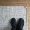 Wollteppich hell 80x230cm Nordic Butik