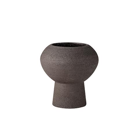 Vase aus Steingut in Braun von Ernst