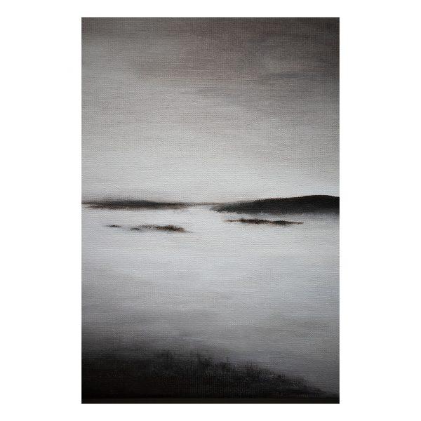 "Dreamy acrylic painting ""BEING STILL"" Piritta Sillan"