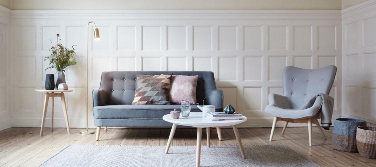 Skandinavischer Wohnstil Skandinavisch einrichten: Wohnzimmer in Pastelltöne bei Nordic Butik