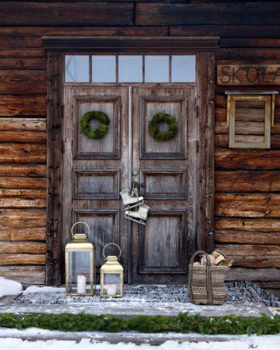 Kerzen Tür Winter bei Nordic Butik